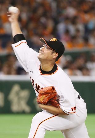 7回無失点で3勝目を挙げた巨人・大竹寛=東京ドーム