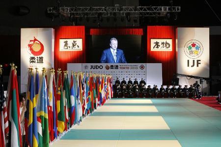 東京で2010年に開催された世界選手権の開会式