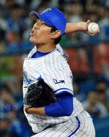 完投で7勝目を挙げたDeNA・井納=横浜