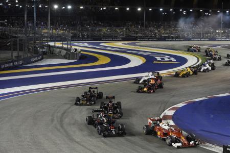 18日に行われたシンガポールGP決勝=Ferrari