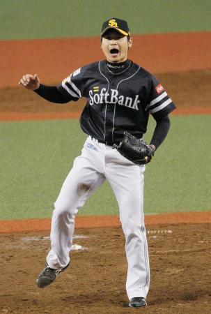 6回無失点で、6勝目を挙げたソフトバンク・中田=西武プリンスドーム