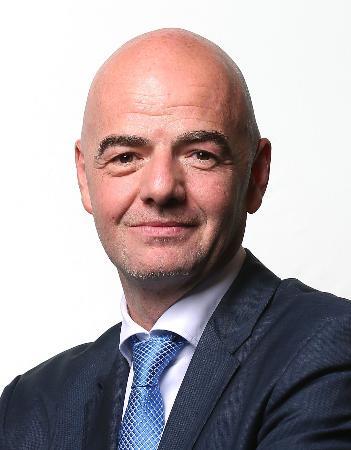 FIFAのインファンティノ会長(ゲッティ=共同)