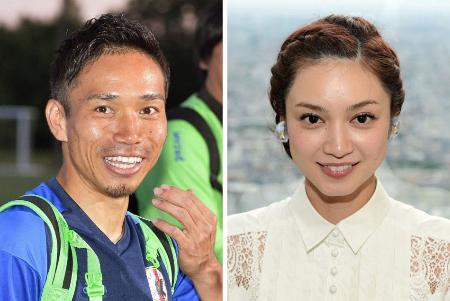 長友佑都選手(左)、平愛梨さん