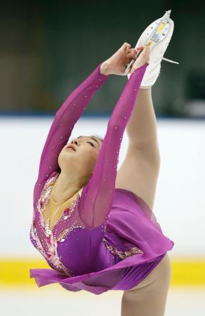 女子で優勝した坂本花織のフリー=月寒体育館