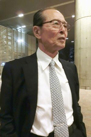 荒川博氏が亡くなった病院を訪れ、恩師をしのぶ王貞治氏=4日夜、東京都内