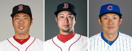 (左から)上原浩治投手、田沢純一投手、川崎宗則内野手(いずれもゲッティ=共同)