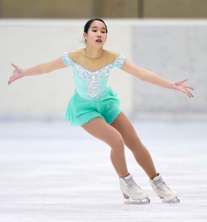 フィギュア女子で初優勝した三原舞依のフリー=宇都宮市スケートセンター