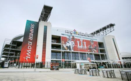 スーパーボウルの会場となるNRGスタジアム=4日、米ヒューストン(AP=共同)