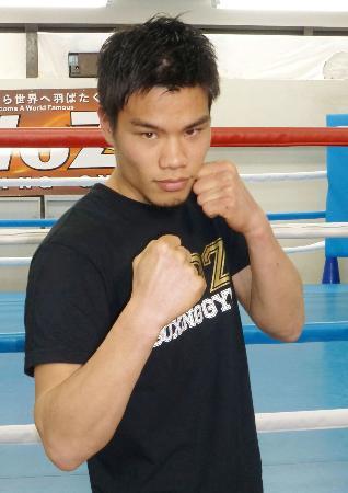 WBOバンタム級のタイトルマッチが決まった大森将平=22日、京都市