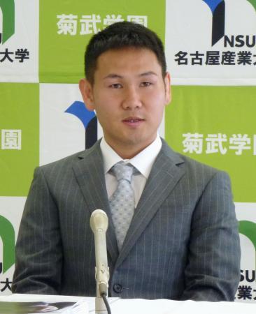 プロ引退と五輪挑戦を表明したWBOミニマム級チャンピオンの高山勝成選手=3日、愛知県尾張旭市