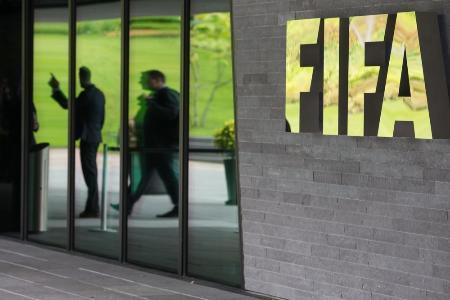 チューリヒの国際サッカー連盟(FIFA)本部(ゲッティ=共同)