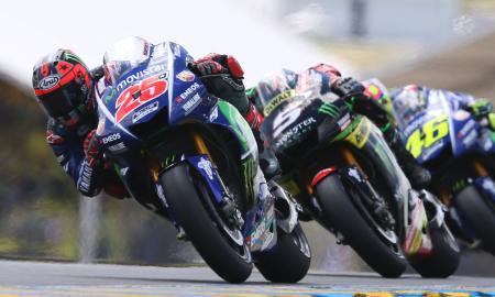 フランスGPで優勝したマベリック・ビニャレス=21日、ルマン(AP=共同)
