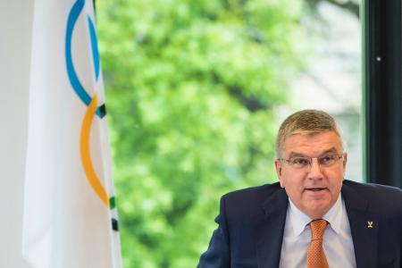 IOCのトーマス・バッハ会長=9日(AP=共同)