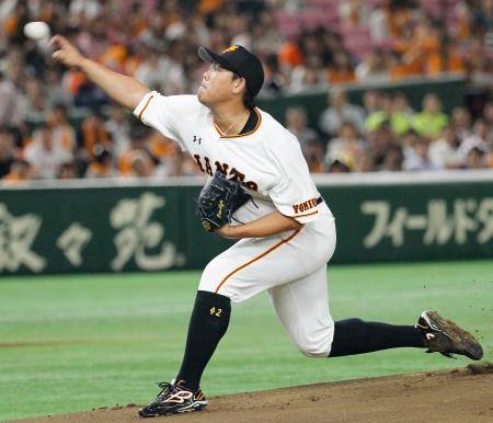 ソフトバンク戦に先発した巨人・山口俊=東京ドーム
