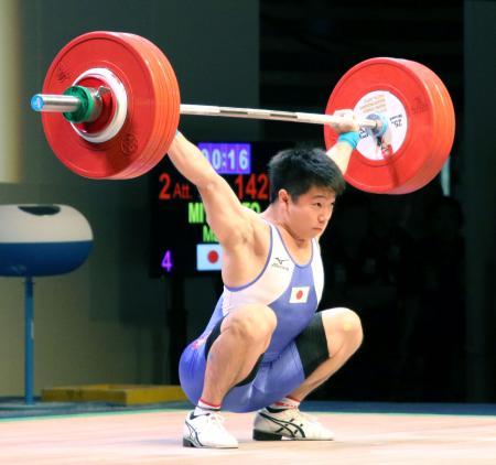 男子69キロ級で銀メダルを獲得した宮本昌典=大田区総合体育館