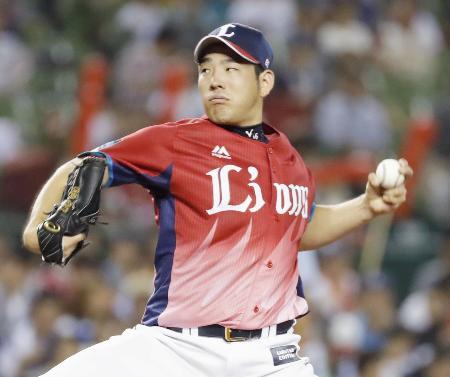 7回途中3失点で9勝目を挙げた西武・菊池=メットライフドーム