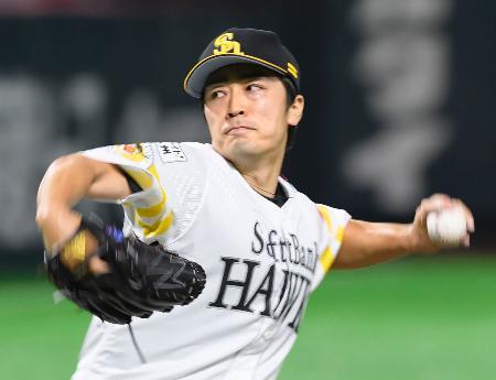 ロッテ戦に先発し、3勝目を挙げたソフトバンク・和田=ヤフオクドーム