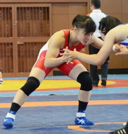 53キロ級で優勝した登坂絵莉=三島市民体育館