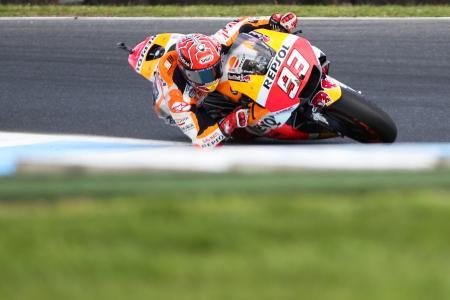 オートバイのオーストラリアGP、モトGPクラスで優勝したマルク・マルケス=22日、フィリップ島(ゲッティ=共同)