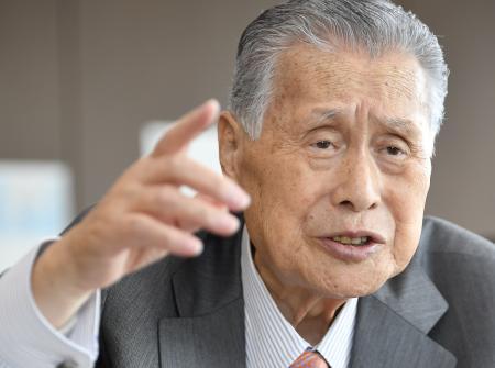 インタビューに答える2020年東京五輪・パラリンピック組織委の森喜朗会長