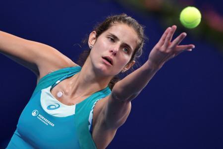 WTAエリート・トロフィー、決勝でココ・バンダウェイを破ったユリア・ゲルゲス=5日、珠海(ゲッティ=共同)