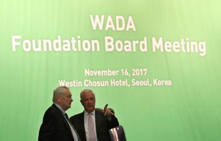 ソウルで開催されている世界反ドーピング機関(WADA)の理事会=16日(AP=共同)