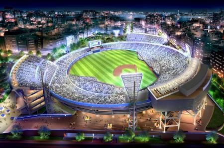 横浜スタジアムの改修イメージ(DeNA球団提供)