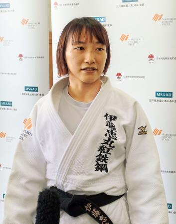 柔道の全日本視覚障害者大会の女子57キロ級で優勝した広瀬順子=東京都の講道館