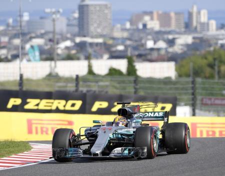 10月、三重県の鈴鹿サーキットで行われたF1日本グランプリ。優勝したハミルトンのマシン