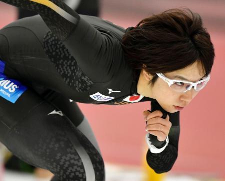 スピードスケートW杯第4戦に向け、調整する小平奈緒=ソルトレークシティー(共同)