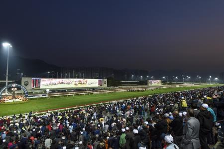 競馬の香港国際競走が行われたシャティン競馬場=10日(ゲッティ=共同)