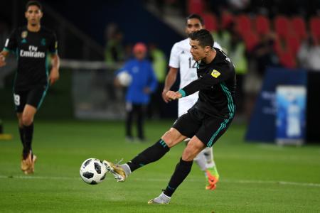 クラブW杯アルジャジーラ戦で得点するレアル・マドリードのロナルド=アブダビ(ゲッティ=共同)