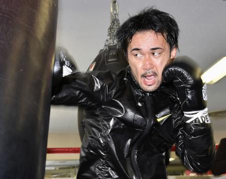 WBCバンタム級タイトル戦に向け調整する前王者の山中慎介=東京都新宿区の帝拳ジム