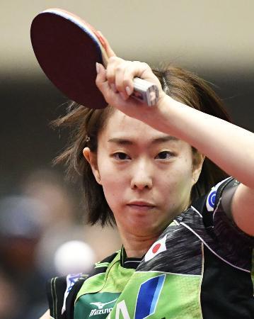 卓球のアジア・カップで3位だった石川佳純=8日、横浜市