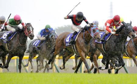 第13回ヴィクトリアマイルで優勝したジュールポレール(4)=東京競馬場