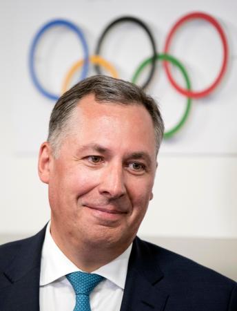 ロシア・オリンピック委員会のポズドニャコフ新会長=5月、モスクワ(AP=共同)