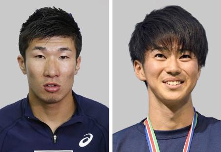 桐生祥秀(左)、多田修平