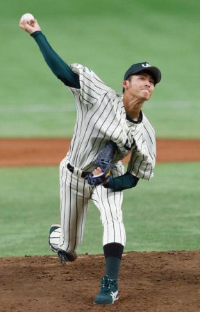 新日鉄住金鹿島戦で先発したJR東日本・板東=東京ドーム