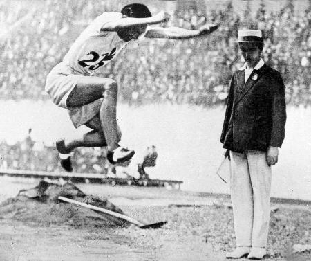 1928年のアムステルダム五輪の陸上男子三段跳びで、日本の金メダル第1号に輝いた織田幹雄さん
