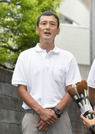 日本大アメリカンフットボール部監督への就任が発表され、抱負を語る橋詰功氏=7日午後、東京都世田谷区