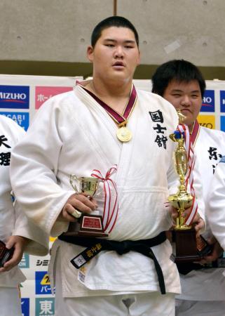 男子100キロ超級で初優勝した斉藤立=埼玉県立武道館
