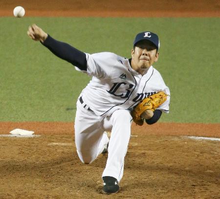 7回途中1失点でリーグトップの15勝目を挙げた西武・多和田=メットライフドーム