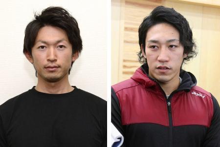 鈴木康大元選手、小松正治選手