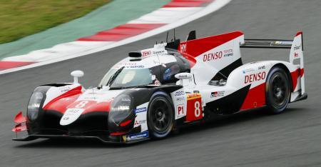 第4戦予選でポールポジションを獲得したトヨタ8号車=富士スピードウェイ