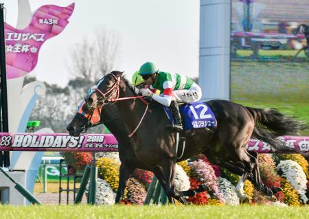 第43回エリザベス女王杯を制したリスグラシュー=京都競馬場