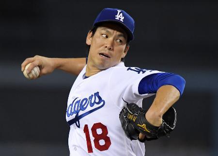 前田健太投手(AP=共同)