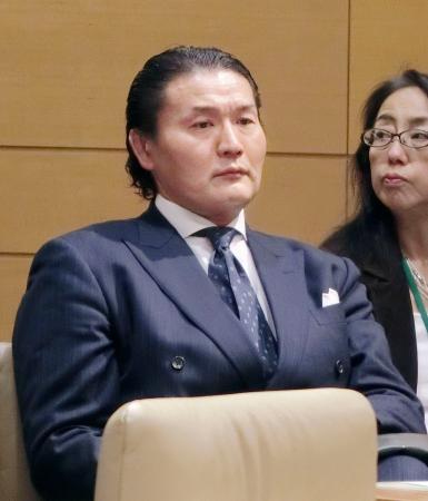 東京都内で開催された、超党派のスポーツ議員連盟主催のフォーラムに出席した大相撲の元貴乃花親方、花田光司氏=20日
