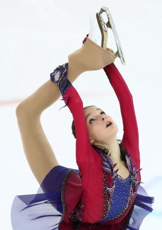 初優勝したアンナ・シェルバコワ=サランスク(タス=共同)