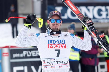 アルペンスキーW杯の男子滑降第7戦で優勝したドミニク・パリス(ロイター=共同)