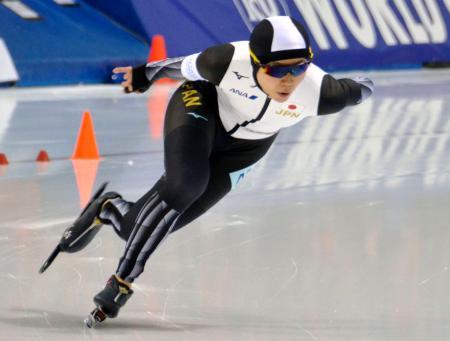 女子1500メートル 1分49秒83の世界新記録で優勝した高木美帆=ソルトレークシティー(共同)